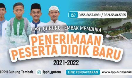 PENERIMAAN PESERTA DIDIK BARU TAHUN 2021-2022